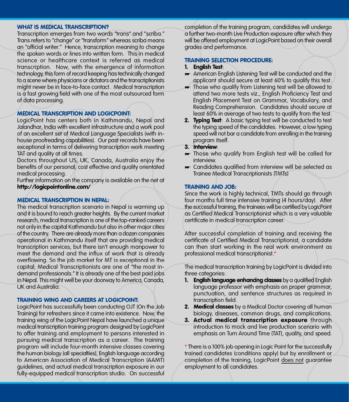 Transcription Companies Medical Transcription Nepal